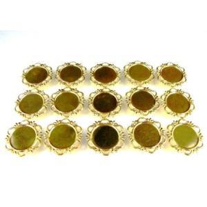 UVレジン枠 丸皿 (大) ゴールド色 15個セット|karin-style