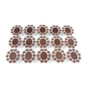 UVレジン 台座  楕円 (小)  ミール皿 ブロンズ色 15個セット|karin-style