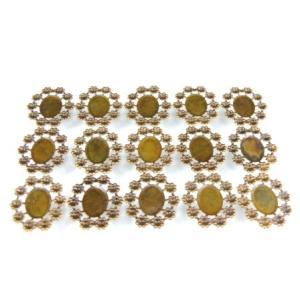 UVレジン 台座 楕円 (小)  ミール皿 アンティークゴールド色 15個セット|karin-style
