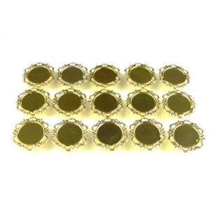 UVレジン枠 丸皿 (小) ゴールド色 15個セット ミール皿|karin-style