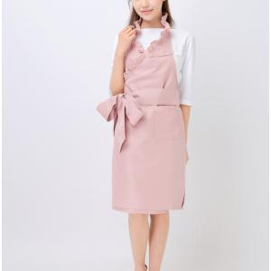 カフェエプロン フリルエプロン ピンク|karin-style