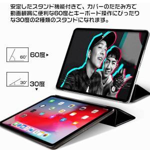 iPad Pro 11インチ 2018モデル ケース 三つ折 スタンド 手帳型ケース 保護カバー スリープ機能  |karin|19