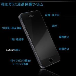 iPhone5 iPhone5S iPhone5c用 強化ガラス液晶保護フィルム 超薄0.26mm 硬度9H スマートフォン   ガラスフィルム karin 04