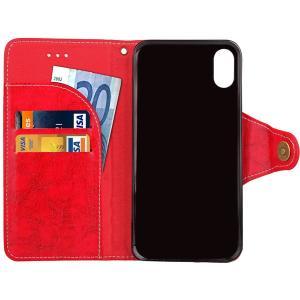 iPhone X手帳型ケース 手帳型カバー PUケース アイフォン X カバー 手帳型|karin|13