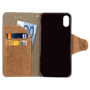 iPhone X手帳型ケース 手帳型カバー PUケース アイフォン X カバー 手帳型|karin|19