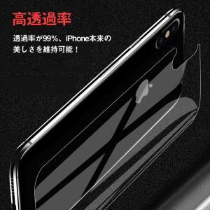 iPhone XS Max 6.5インチ 背面保護フィルム 強化ガラス 背面フィルム ガラスフィルム 9H|karin|06