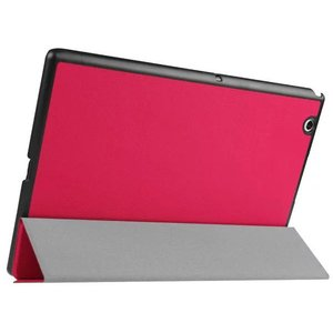Sony Xperia Tablet Z4用 PUレザーケース 3つ折り スタンドケース 手帳型 カバー スタンドカバー|karin|05