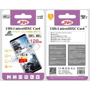 microSDXC 128GB JNHブランド 超高速100MB/S Class10 UHS-I U3 V30 4K Ultra HDアプリ最適化A1対応  |karin|02