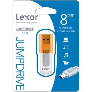 レキサーUSBフラッシュドライブ 8GB Lexar JumpDrive S50 海外向けパッケージ品|karin
