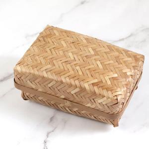 弁当箱 すす竹アジロ編み(小) ランチボックス 竹製 かご 母の日 新生活 行楽 karinhonpo2951