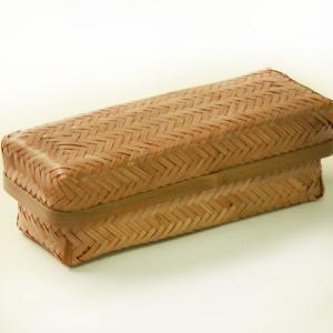 弁当箱 すす竹アジロ編み ビジネスマン ランチボックス 竹製 かご 母の日 新生活 行楽 p5 karinhonpo2951