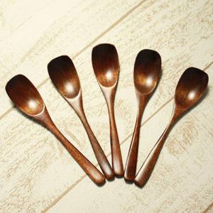 木製スプーン アイススプーン 5本セット メール便180円対応 運動会|karinhonpo2951