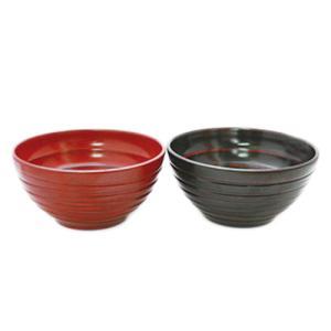 木のどんぶり 宴 木製お椀  根来(赤)、曙(黒) 全2種 ...