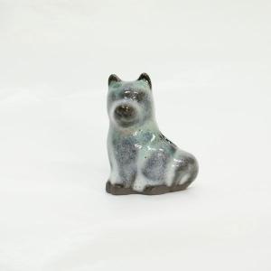 長野の工芸品 松代陶苑松井窯 松代焼 動物楊枝立て 犬 karintou001