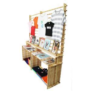 【木の組立家具・組手什kudeju】展示パーテーション|karooyaji