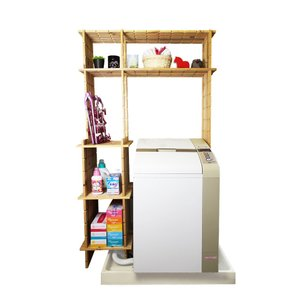 【木の組立家具・組手什kudeju】洗濯機ラック|karooyaji