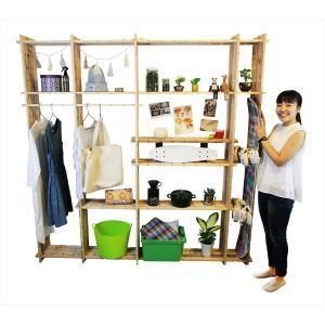 【木の組立家具・組手什kudeju】リビングラック|karooyaji