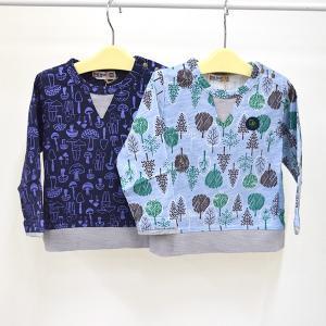 ラグマート 総柄長そでTシャツ 80-95cm RAG MART|kasaman