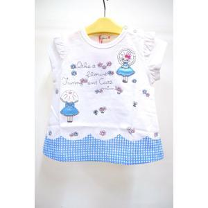 QUALITY:綿100% 日本製  ミミちゃんとお花畑でお散歩♪ そんなメルヘンチックなTシャツで...