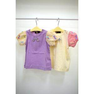 sale ユニカ unica 袖チュールリボンリボンTシャツ  90-140cm|kasaman