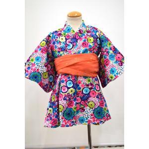 オーシャン&グランド ocean&ground GIRL'S 浴衣ワンピース FLOWER POP ピンク 90cm〜130cm|kasaman