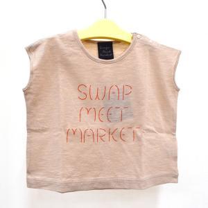 セール スワップミートマーケット swap meet market 30/-スラブロゴTシャツ ベージュ 90-140cm kasaman