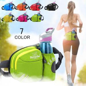 ボディーバッグ メンズ レディース ウエストポーチ ランニング マラソン 斜め掛けバッグ 給水ポケット付き 撥水加工 アウトドア レジャー 軽量 登山|kaseishop