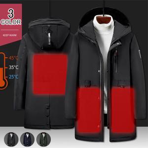 電熱ジャケット ヒーター付き メンズ レディース ジャケット フード付き ブルゾン ジャンパー ヒートジャケット 男女兼用 水洗い ヒーター3枚内蔵|kaseishop