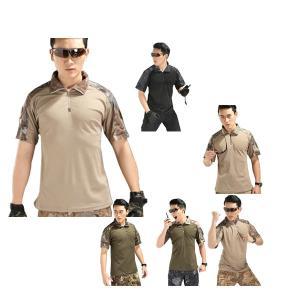 UVカット メンズ スポーツ Tシャツ 半袖 ジップアップシャツ トレッキング 春 夏 秋 吸汗速乾 登山服 レジャーウェア ポロシャツ アウトドア トップス|kaseishop