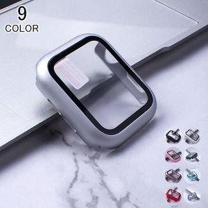 2set アップルウォッチ Apple watch ケース 保護ケース メンズ レディース 強化ガラス カバー おしゃれ ファッション プレゼント|kaseishop