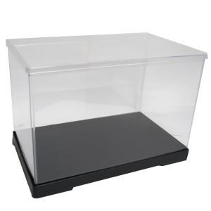 透明フィギュアケース No.54 横長 横幅40cm×奥行21cm×高さ24cm 402124 プラスチック 組立式 ディスプレイケース|kashibako