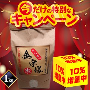 さい藤の酵素米 金字塔米 1kg コシヒカリ|kashimanokouso