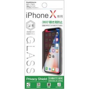 保護強化ガラス 360度のぞき見防止 iPhone X/iPhone Xs(BP790)|kashimura