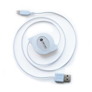 USB充電&同期ケーブル リール式 80cm【Lightning】(KL-31)|kashimura
