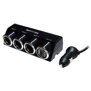 3連セパレートソケット+USB2口 合計3.1A(KX-185) kashimura
