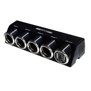 4連セパレートソケット+USB2口 合計4.8A(KX-187) kashimura