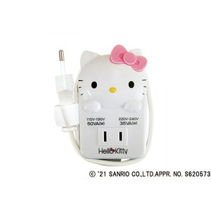 海外旅行用薄型変圧器 110V〜130V用50W/220V〜240V用35W【ハローキティ】(TK-1)|kashimura