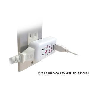 国内・海外兼用 2口電源コンセント Aタイプ USB×2ポート付(合計2.4A) 【ハローキティ】(TK29)|kashimura