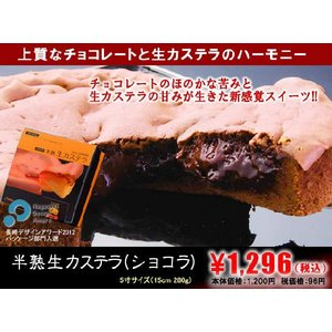 生カステラ ショコラ 冷凍配送 半熟 カステラ 長崎 森長|kashuen-moricho