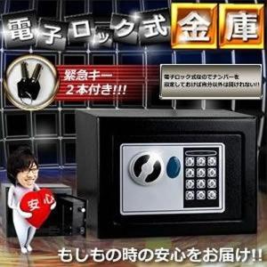 金庫 家庭用 電子ロック 小型 防犯 おしゃれ KZ-DIGI-KK 即納|kasimaw