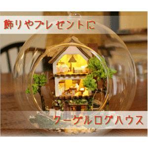 ミニチュア ハウス ドールハウス ガラス の中 家 コレクション おもちゃ 女の子 KZ-MG001 即納|kasimaw