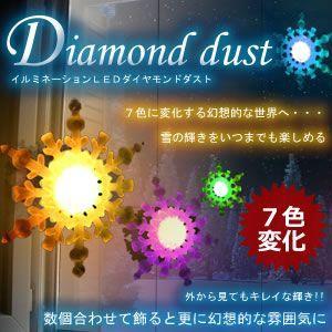 ダイヤモンドダスト7色変化 クリスマス LED イルミネーション ソーラーライト 飾り付け ガーデン 壁 ガラス 吸盤 KZ-DIAMON 即納|kasimaw
