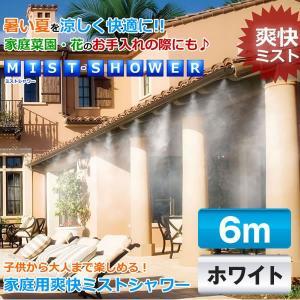 ミストシャワー 6mタイプ 家庭菜園 花のお手入れ 暑い夏を涼しく快適に ガーデンニング 家庭用 KZ-MISTSW 即納|kasimaw