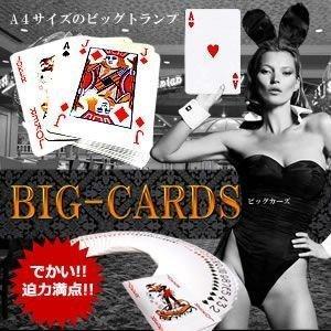 A4サイズ の ビッグトランプ ビッグカーズ BIG CARDS ババ抜き 7並べ イベントクリスマス KZ-BIGCARD 即納|kasimaw