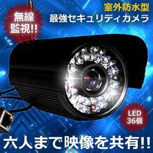 防犯カメラ 無線 シェア・アイ IP LED36灯 セキュリティ 監視 動体 暗視 録画機能付き 室外防水 同時接続 赤外線 KZ-SR-CAM 即納|kasimaw