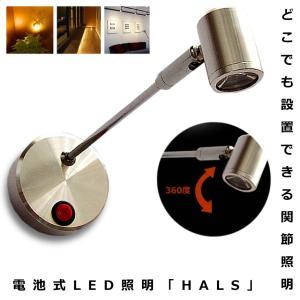 スポットライト 照明 ハルス 配線不要 LEDライト ロングTYPE ショーケース 電池式 角度調節可能 昼白色 電球色 インテリア おしゃれ 人気 KZ-HALS 即納|kasimaw