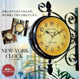 壁掛け用 ニューヨーク 時計 インテリア クロック オシャレ インテリア 米国 雑貨 人気 KZ-NYCLOCK 予約|kasimaw