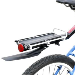 自転車用 泥除け付 リアキャリア 反射板付 荷台 ワンタッチ 簡単取付 マウンテンバイク ロードバイク MI-RYOBAI2 即納|kasimaw