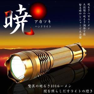 LED ハンドライト 暁ライト 800ルーメン 5段階調節 作業 アウトドア 軽量 災害 キャンプ レジャー KZ-AKATUKI 予約|kasimaw