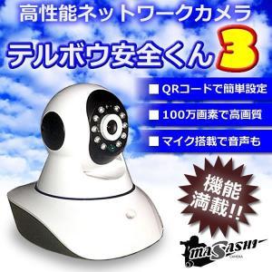 遠隔 操作 できる ワイヤレス 無線 防犯 IP カメラ テルボウ 安全 くん 3 M-IPC3634 即納|kasimaw